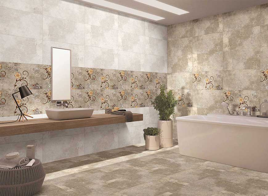 Matt Finish Tiles Designs for Bathroom & Kitchens