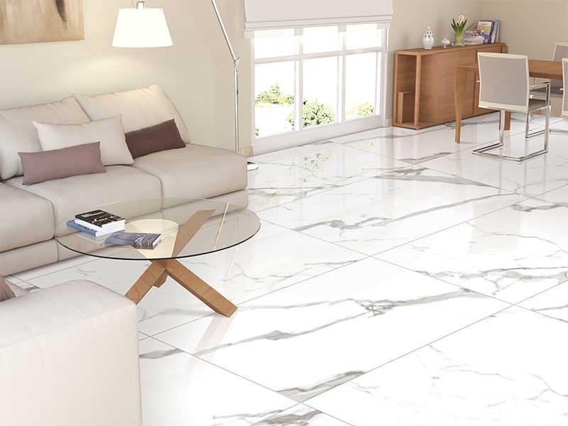 White Floor Tiles