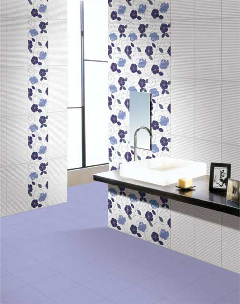 Toronto Blue Power Line 30x30 Cm Floor Tiles Satin Matt