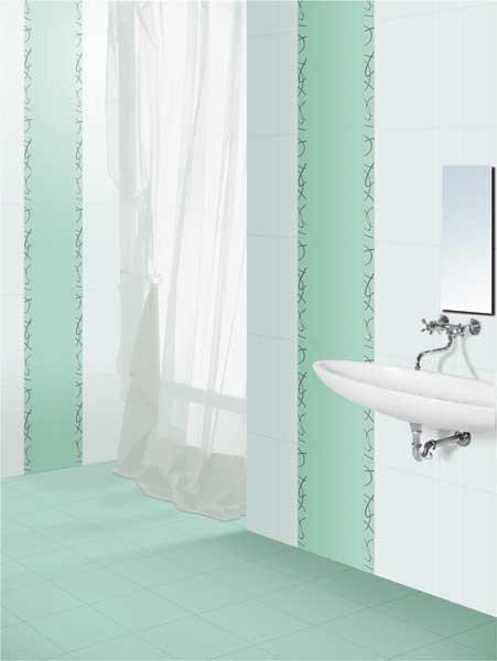 Bathroom Tiles Kajaria adora aqua, power line - 30x45 cm, wall tiles, glossy