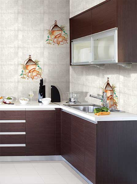 Kitchen Tiles Kajaria augusta, power line - 30x45 cm, wall tiles, satin matt