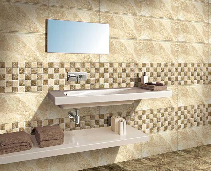 Bathroom Tiles Kajaria emperador dark, digital - 30x30 cm, floor tiles, satin matt