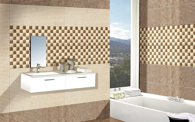 Kitchen Tiles Kajaria gialo coco, digital - 30x30 cm, floor tiles, satin matt