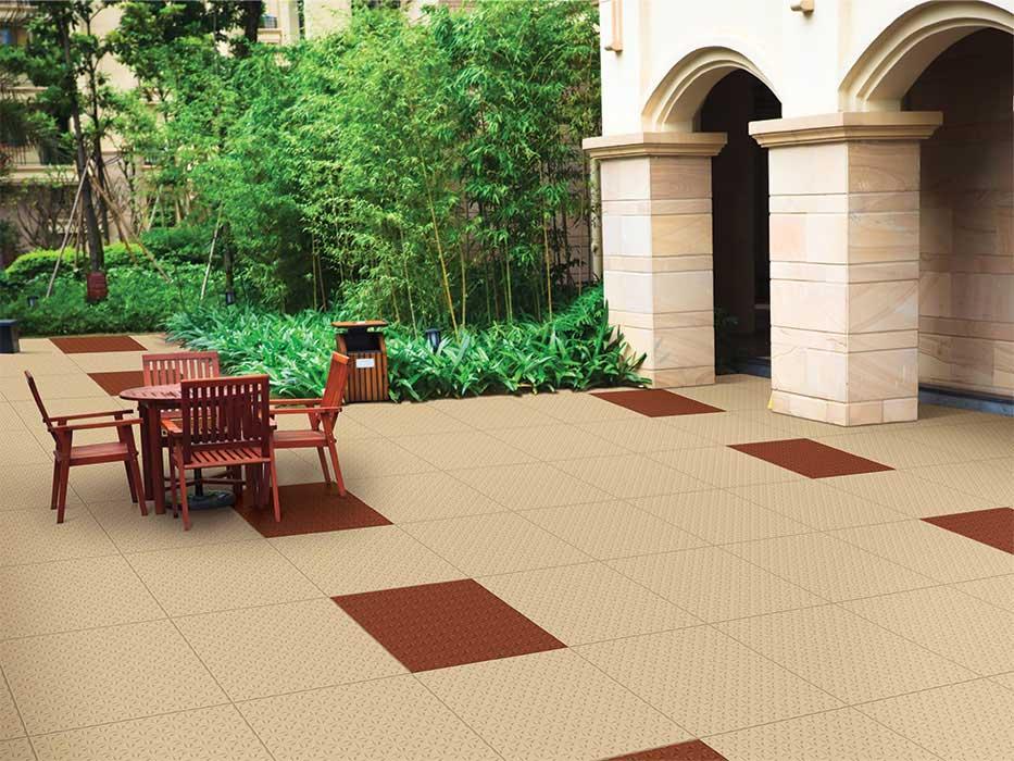 Rover Terracotta Pavigres 30x30 Cm Paving Tiles Matt