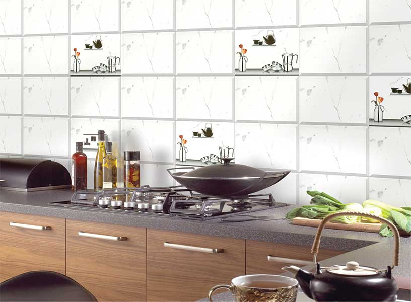 Kitchen Tiles Highlighters snow white kitchen highlighter, digital - 25x33 cm, wall tiles, glossy