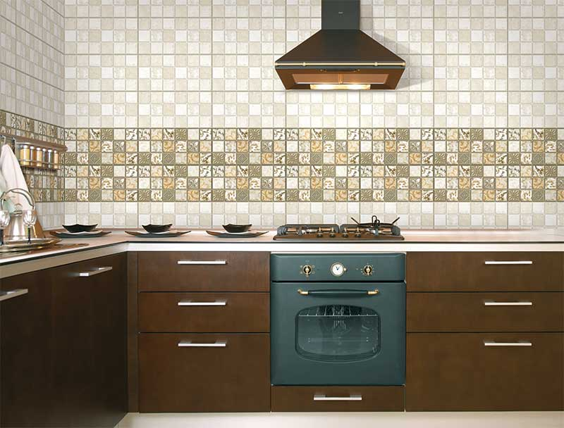 Kitchen Tiles Kajaria marseilles, digital - 30x60 cm, wall tiles, satin matt