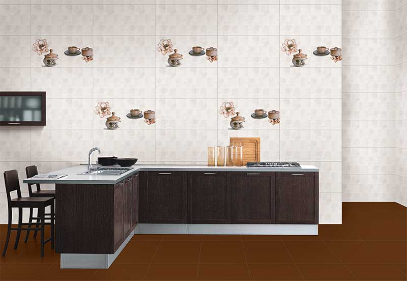 Kitchen Tiles Kajaria rosabella highlighter, digital - 30x60 cm, wall tiles, glossy