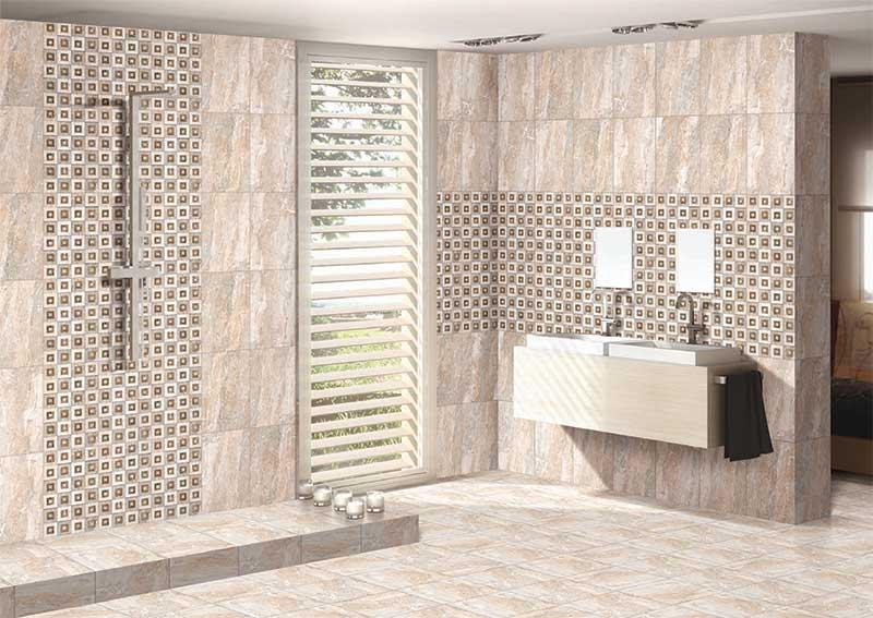 Bathroom Tiles Kajaria pisa marfil, digital - 30x45 cm, wall tiles, satin matt