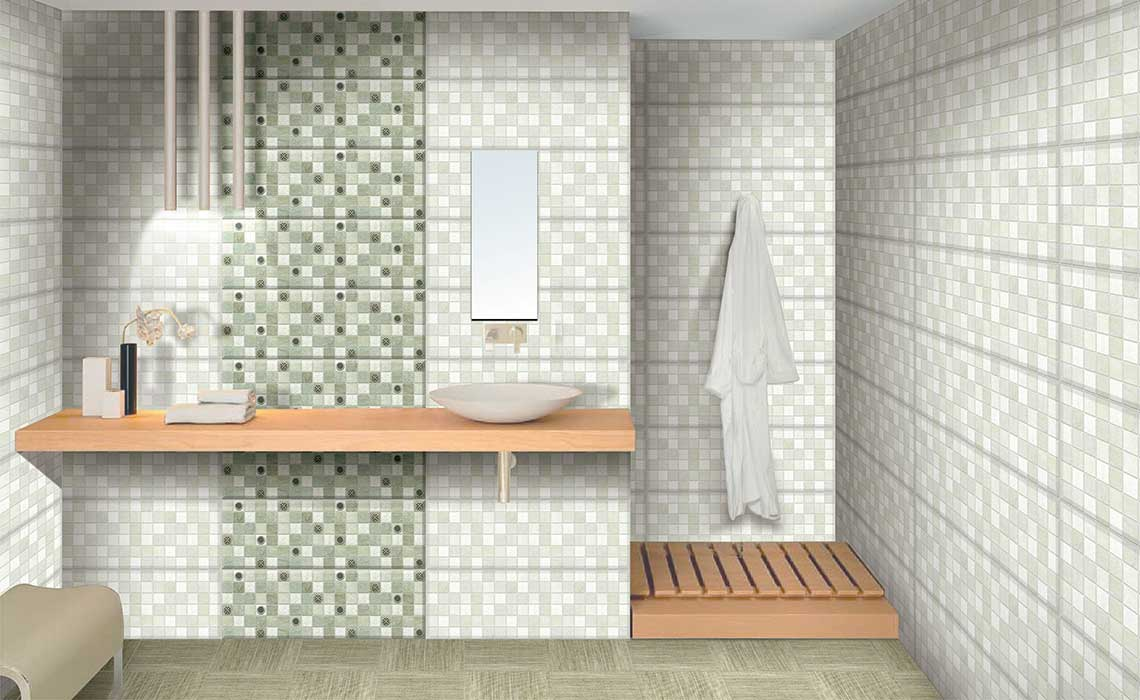 Mikonos Olivia Digital 25x75 Cm Wall Tiles Satin Matt