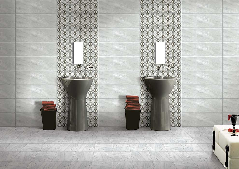 Ontario gris digital 30x30 cm floor tiles satin matt Kajaria bathroom tiles design in india