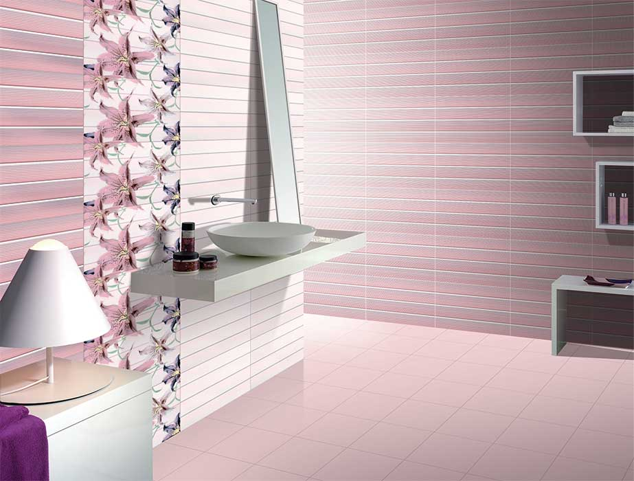 Kitchen Tiles Kajaria vancouver pink, digital - 30x45 cm, wall tiles, glossy