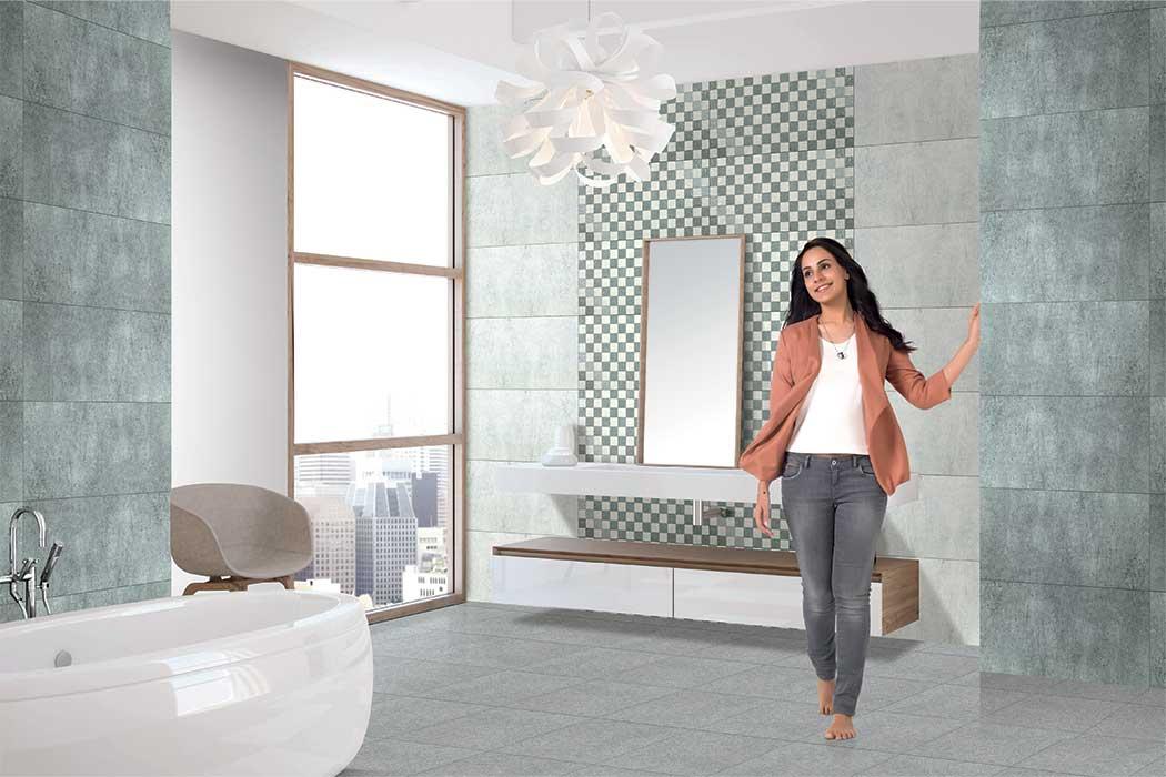 Chicago Grey Digital 30x30 Cm Floor Tiles Satin Matt