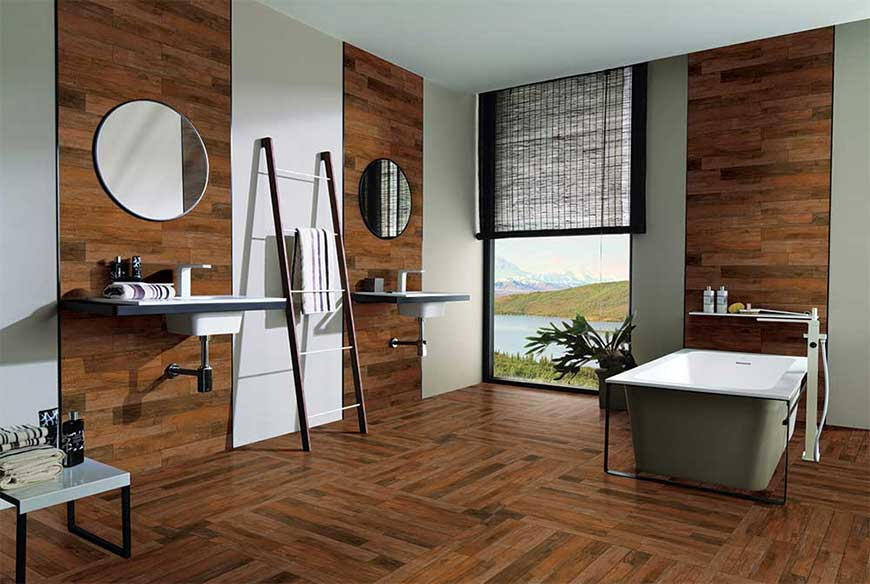 Wooden Bathroom Tiles