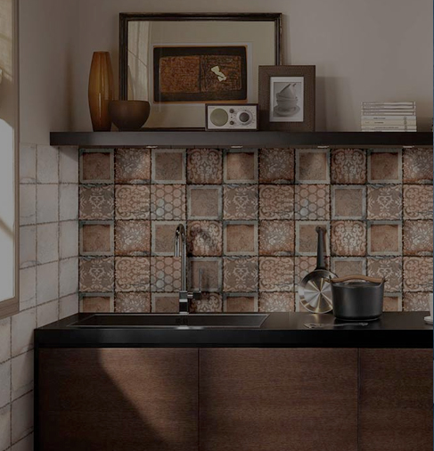 Wall Tiles Ceramic Wood Rustic Digital Metallic Tiles For