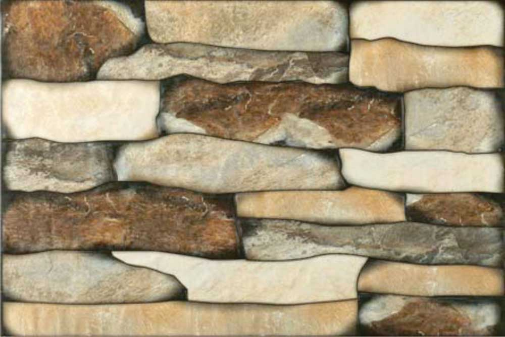 Brown Stone Digital Exterior Collection 30x45 Cm Wall